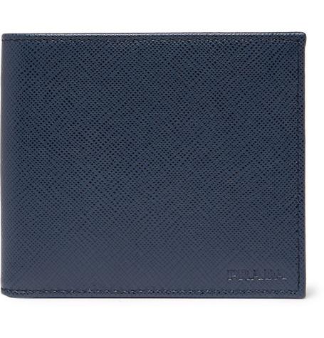 b87a45cee4f22d Prada - Logo-Debossed Saffiano Leather Billfold Wallet