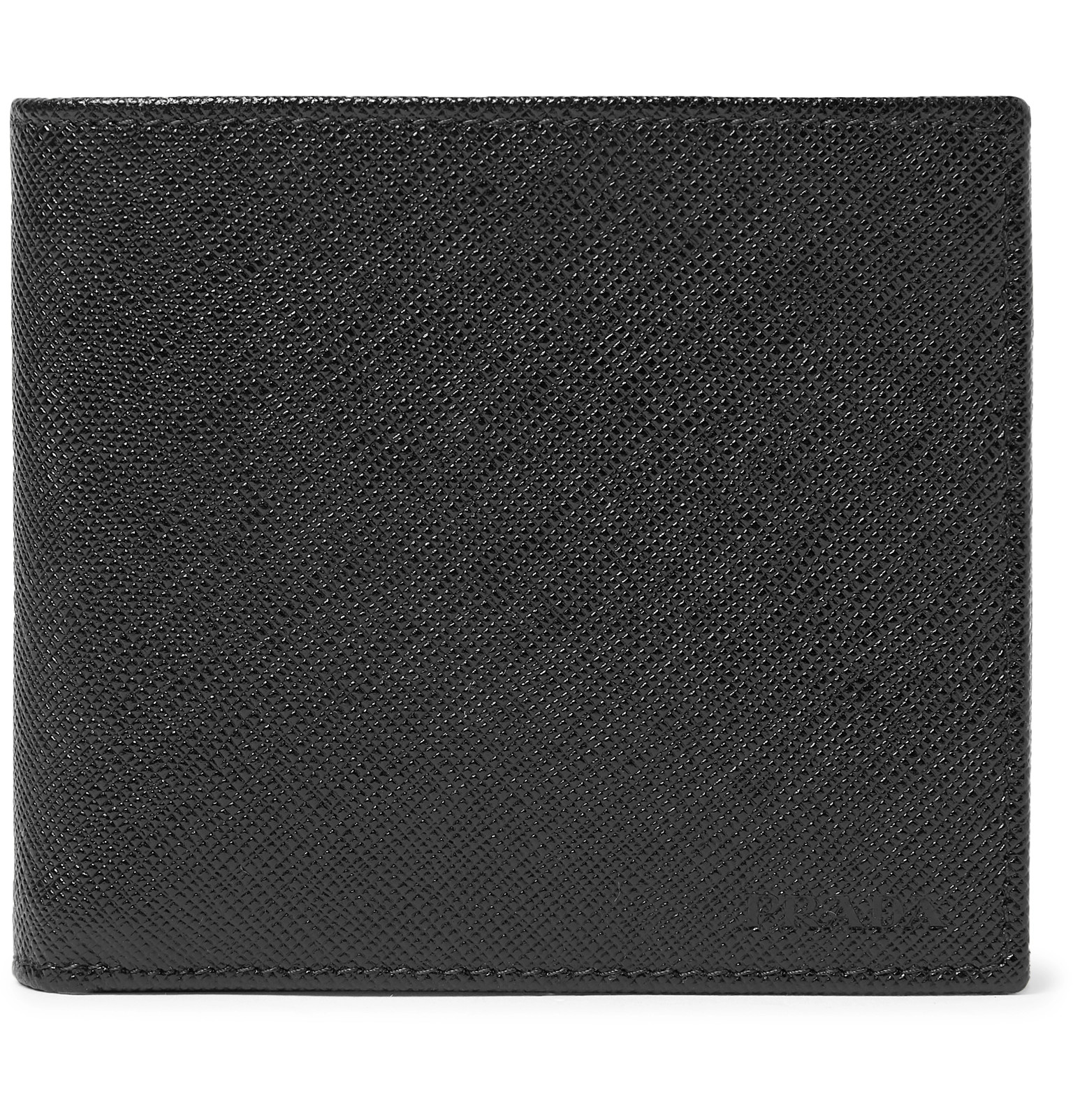 5b309a0bfc4d98 Prada - Logo-Debossed Saffiano Leather Billfold Wallet