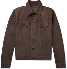 Valstar Slim-Fit Suede Trucker Jacket