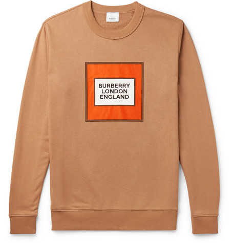 Burberry T-shirts LOGO-PRINT LOOPBACK COTTON-JERSEY SWEATSHIRT