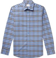 Burberry Slim-Fit Checked Stretch-Cotton Poplin Shirt