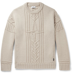 Stone Island Cable-Knit Wool Sweater