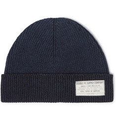 RRL Ribbed Mélange Cotton Beanie