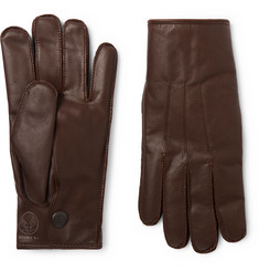 RRL Officer's Cashmere-Lined Leather Gloves