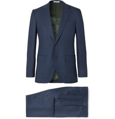 Husbands Navy Slim-Fit Wool Three-Piece Suit