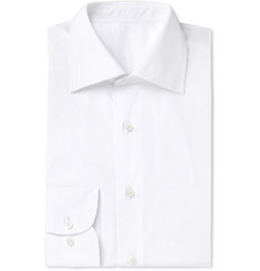 Husbands White Slim-Fit Cotton Shirt