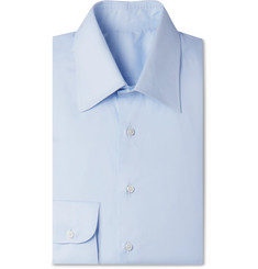 Husbands - Light-Blue Slim-Fit Cotton Shirt