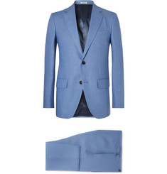 Husbands Blue Slim-Fit Linen Suit