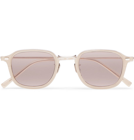 Eyevan 7285 Square-Frame Acetate and Silver-Tone Sunglasses