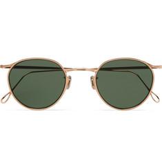 Round-frame Gold-tone Sunglasses - Gold