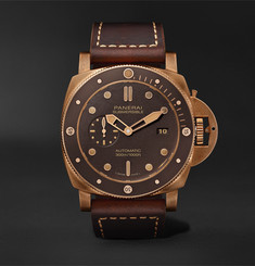 Panerai Submersible Bronzo Automatic 47mm Bronze, Ceramic and Leather Watch, Ref. No. PAM00968