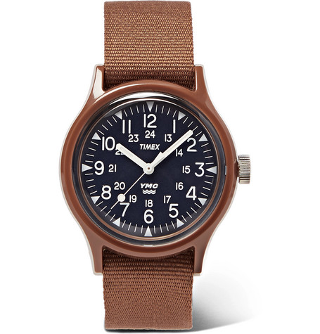 + Ymc Resin And Nylon Webbing Watch by Timex