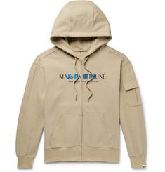 7dc496f6 Maison Kitsuné - + ADER error Oversized Logo-Print Cotton-Blend Jersey Zip-
