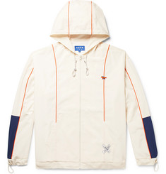 Maison Kitsuné + ADER error Oversized Colour-Block Shell Hooded Jacket