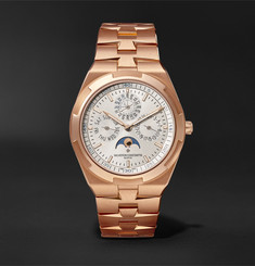Vacheron Constantin Overseas Perpetual Calendar Automatic 41.5mm Ultra Slim 18-Karat Rose Gold Watch, Ref. No. 4300V/120