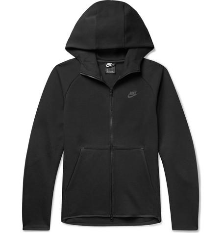 Nike – Sportswear Cotton-blend Tech-fleece Zip-up Hoodie – Black