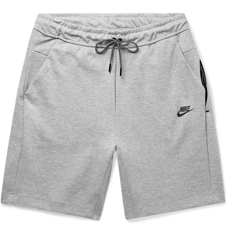 Sportswear Mélange Cotton Blend Tech Fleece Shorts by Nike