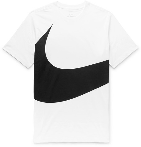 Sportswear Logo Print Cotton Jersey T Shirt by Nike