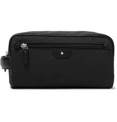 Montblanc - Sartorial Jet Cross-Grain Leather-Trimmed Shell Wash Bag