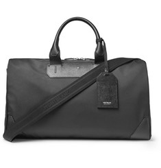 Montblanc Sartorial Jet Cross-Grain Leather-Trimmed Shell Duffle Bag