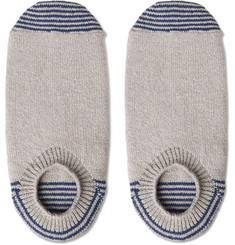 Anonymous Ism Striped Stretch Cotton-Blend No-Show Socks