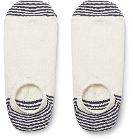 Anonymous Ism Striped Knit No-Show Socks