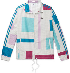 adidas Originals Colour-Block Checked Shell Jacket
