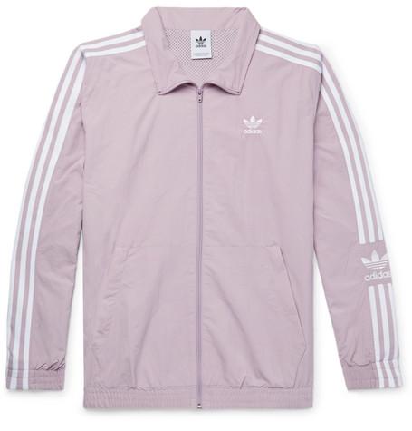 Adidas Originals Logo-Embroidered Nylon Track Jacket In Purple