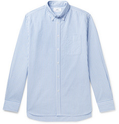 Mr P. Button-Down Collar Striped Cotton Oxford Shirt