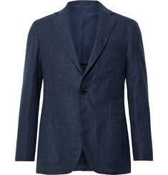 Sid Mashburn Navy Kincaid No 1 Unstructured Cotton and Wool-Blend Hopsack Blazer
