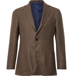 Sid Mashburn - Brown Kincaid No 1 Unstructured Wool-Hopsack Blazer