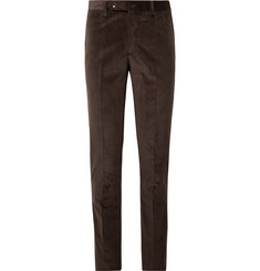 Sid Mashburn - Chocolate Slim-Fit Cotton-Corduroy Suit Trousers