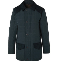 Purdey Felgate Slim-Fit Faux Suede-Panelled Quilted Shell Primaloft Jacket