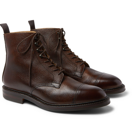 Purdey Full-Grain Leather Boots In Brown