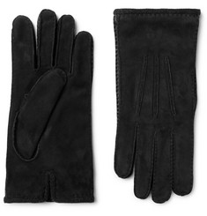 Loro Piana - Damon Baby Cashmere-Lined Suede Gloves