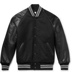 Golden Bear - The Ralston Wool-Blend and Leather Bomber Jacket