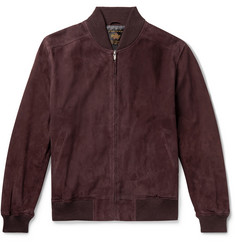 Golden Bear The Toland Suede Bomber Jacket
