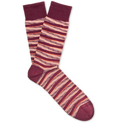 Missoni Three-Pack Striped Cotton-Blend Jacquard Socks