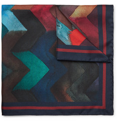 Missoni - Printed Silk-Twill Pocket Square