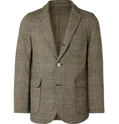 Beams Plus - Beige Unstructured Prince of Wales Checked Wool-Blend Blazer