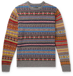 Beams Plus Fair Isle Wool-Blend Sweater