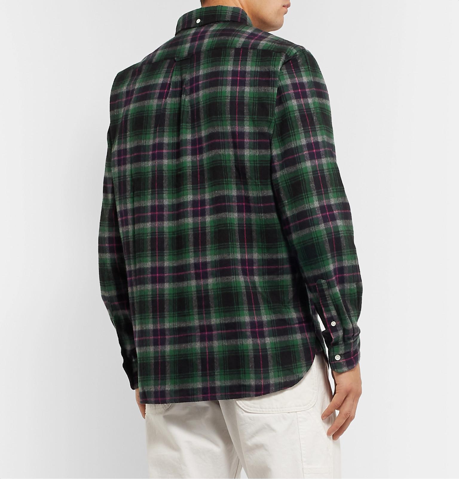 Beams Plus - Button-Down Collar Cotton-Flannel Shirt