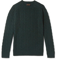Beams Plus Slim-Fit Cable-Knit Wool Sweater