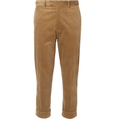 Beams Plus Cropped Cotton-Blend Corduroy Trousers