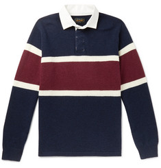 Beams Plus Twill-Trimmed Striped Wool Rugby Shirt