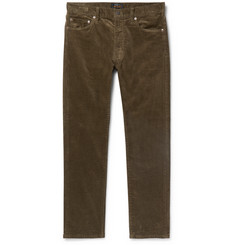 Beams Plus Slim-Fit Tapered Cotton-Blend Corduroy Trousers