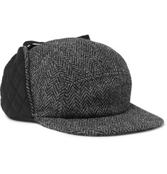 Beams Plus Quilted Twill and Harris Tweed Trapper Hat