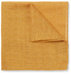 Anderson & Sheppard Wool and Silk-Blend Pocket Square