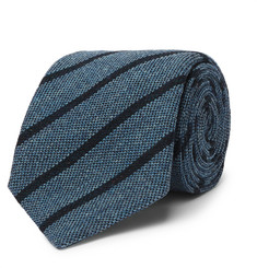Anderson & Sheppard 9cm Striped Wool and Silk-Blend Tie