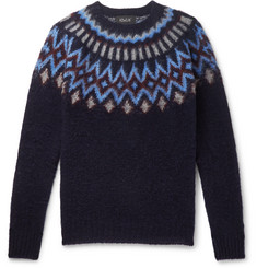 Howlin' Future Fantasy Fair Isle Brushed-Wool Sweater